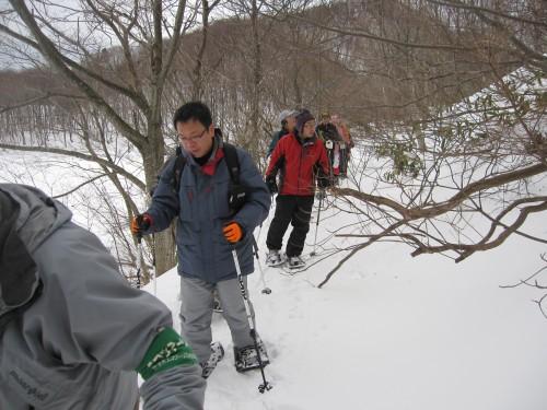 新雪の上を気持ち良く歩く