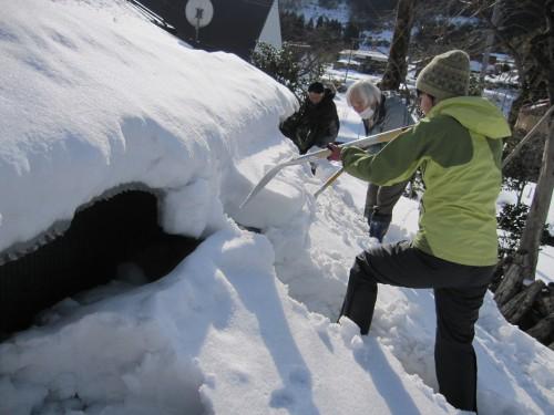 雪かきの合力(お手伝い)
