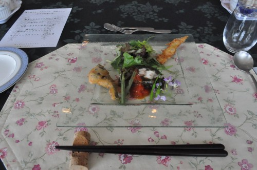 前菜・鮮魚とアカモクのゼリー寄せ