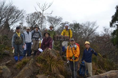 宇野ガ岳頂上で記念撮影