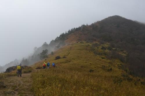 最後の赤石岳への登り