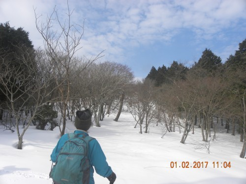 一時青空も見えて気持ち良いスノーシュー