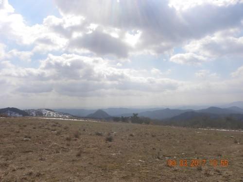 スキー場から砥石山