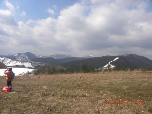 スキー場から大江山鍋塚方面